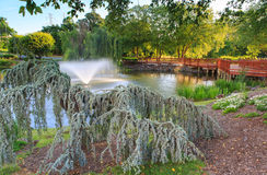 Plaza Amerika Reston Virginia Park Setting Royaltyfri Bild