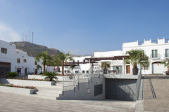 Plaza Arbollon Mojacar Village Royalty Free Stock Photography