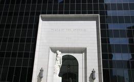 Plaza av den Americas ingången Arkivfoto