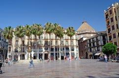 Plaza av konstitutionen, Malaga, Spanien, Tom Wurl Arkivfoton