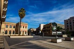 Plaza av slotten av rättvisa i Palermo, Italien Arkivbilder