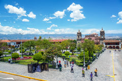 Plaza Ayacucho, Περού στοκ φωτογραφία με δικαίωμα ελεύθερης χρήσης