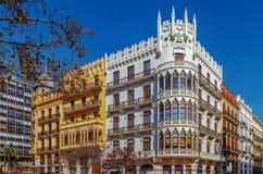 Plaza Ayuntamiento, Βαλένθια, Ισπανία Στοκ εικόνα με δικαίωμα ελεύθερης χρήσης