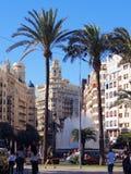 Plaza Ayuntamiento, Βαλένθια Στοκ Φωτογραφία