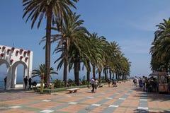 Plaza Balcon de Ευρώπη Nerja, Ισπανία Στοκ φωτογραφία με δικαίωμα ελεύθερης χρήσης