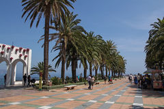 Plaza Balcon de Europa in Nerja, Spain Royalty Free Stock Photo