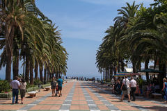 Plaza Balcon de Europa in Nerja, Spain Royalty Free Stock Images