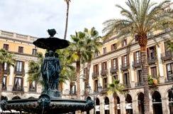 Plaza Barcellona, Spagna fotografia stock libera da diritti