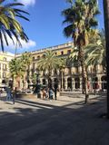 Plaza Barcelona royalty free stock photos