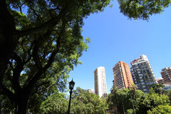 Plaza Barrancas de Belgrano in Buenos Aires Royalty Free Stock Images