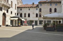 Plaza in Bassano del Grappa Stock Images
