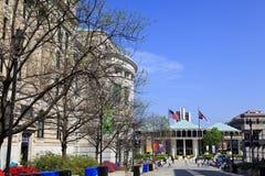Plaza bicentenaire dans Raleigh photographie stock
