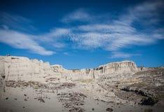 Plaza Blanca. Landscape of limestone formations in Plaza Blanca near Santa Fe, New Mexico Royalty Free Stock Photos