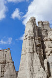 Plaza Blanca. White sandstone rock formation known as the Plaza Blanca, located near Abiquiu, NM. This is where Georgia O'keefe painted some of her well known Royalty Free Stock Images