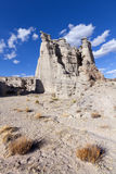 Plaza Blanca. White sandstone rock formation known as the Plaza Blanca, located near Abiquiu, NM. This is where Georgia O'keefe painted some of her well known Royalty Free Stock Photo