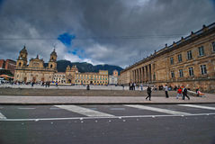 plaza bolívar της Μπογκοτά Στοκ εικόνα με δικαίωμα ελεύθερης χρήσης
