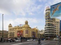 Plaza Callao, Μαδρίτη, Ισπανία Στοκ φωτογραφία με δικαίωμα ελεύθερης χρήσης