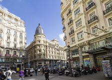 Plaza Callao, Μαδρίτη, Ισπανία Στοκ Εικόνα