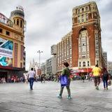 Plaza Callao στη Μαδρίτη Στοκ εικόνα με δικαίωμα ελεύθερης χρήσης