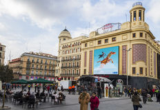 Plaza Callao, Madrid, Spain Royalty Free Stock Photo