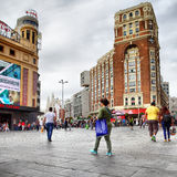 Plaza Callao in Madrid Royalty Free Stock Image