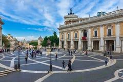 Plaza Capitoline en Roma Imagenes de archivo