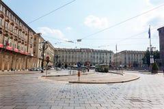 Plaza Castello Turín Imagenes de archivo