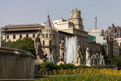 Plaza Catalunia Βαρκελώνη Στοκ εικόνες με δικαίωμα ελεύθερης χρήσης