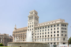 Plaza Catalunia Βαρκελώνη Στοκ φωτογραφίες με δικαίωμα ελεύθερης χρήσης