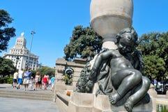 Plaza Catalunya στη Βαρκελώνη, Ισπανία Στοκ Εικόνες