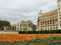 Plaza Catalunya στη Βαρκελώνη Στοκ εικόνα με δικαίωμα ελεύθερης χρήσης