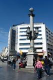 Plaza Catalunya στη Βαρκελώνη Στοκ Φωτογραφίες