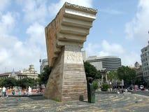 Plaza Catalunya in Barcelona, Spain. Monument to Francesc Macia Royalty Free Stock Photos
