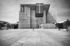 Plaza, Cathedral of Our Lady of the Angels, Los Angeles, CA Stock Photography