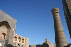 Plaza central de Bukhara com mesquita de Kalyan Fotos de Stock