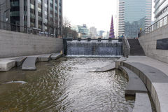 Plaza Cheonggyecheon το χειμώνα Στοκ Εικόνες