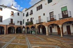 Plaza Chica, μικρό τετράγωνο, Zafra, επαρχία Badajoz, Εστρεμαδούρα, Ισπανία Στοκ εικόνες με δικαίωμα ελεύθερης χρήσης