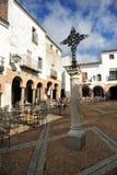 Plaza Chica, μικρό τετράγωνο, Zafra, επαρχία Badajoz, Εστρεμαδούρα, Ισπανία Στοκ εικόνα με δικαίωμα ελεύθερης χρήσης