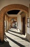 Plaza Chica, μικρό τετράγωνο, Zafra, επαρχία Badajoz, Εστρεμαδούρα, Ισπανία Στοκ φωτογραφία με δικαίωμα ελεύθερης χρήσης