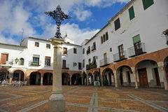 Plaza Chica, Small Square, Zafra, province of Badajoz, Extremadura, Spain Stock Photo