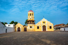 Plaza and Church View Royalty Free Stock Photography