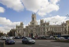 Plaza Cibeles, Μαδρίτη, Ισπανία Στοκ Φωτογραφίες