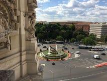 Plaza Cibeles, Μαδρίτη, Ισπανία Στοκ εικόνα με δικαίωμα ελεύθερης χρήσης