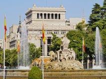Plaza Cibeles στη Μαδρίτη Στοκ φωτογραφία με δικαίωμα ελεύθερης χρήσης