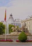 Plaza Cibeles i Madrid Royaltyfri Foto