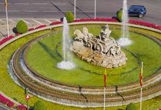 Plaza Cibeles i Madrid Fotografering för Bildbyråer