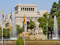 Plaza Cibeles i Madrid Royaltyfri Fotografi