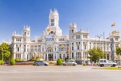 Plaza Cibeles i Madrid, Spanien Fotografering för Bildbyråer