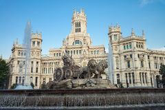 Plaza Cibeles in Madrid Royalty Free Stock Photography
