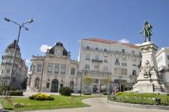 Plaza in Coimbra Stock Photo